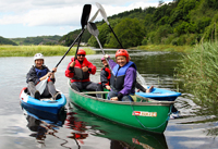 canoeing and kayaking with friends and family with Snowdonia Adventure Activities in north wales
