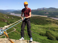 rock climbing and abseiling in snowdonia north wales suitable for adults and children, begginers, no experience necessary